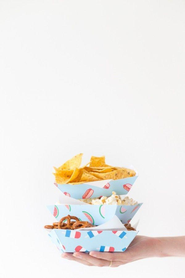 """<p>Instead of letting everyone stick their hands in the same bowl, use these snack trays (it's a free printable!) to pre-portion snacks into individual servings. </p><p><a class=""""link rapid-noclick-resp"""" href=""""https://studiodiy.com/diy-summer-snack-trays/"""" rel=""""nofollow noopener"""" target=""""_blank"""" data-ylk=""""slk:GET THE PRINTABLE"""">GET THE PRINTABLE</a></p>"""