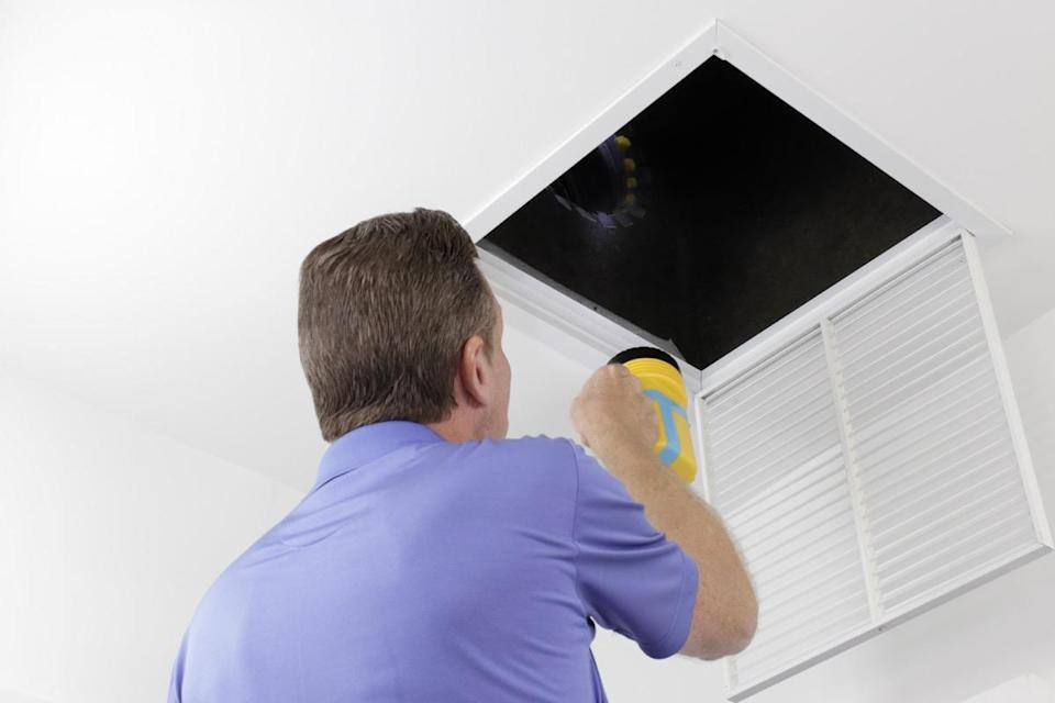 """Leaks in your ductwork that go un-repaired can mean major problems in your future. """"Excess dust in your home could be the result of leaky ducts pulling in dirt or dust-laden air from your crawlspace or attic,"""" says Ciresi. In addition to spreading debris throughout your home, this can also send your electric bills skyrocketing and strain your HVAC system, making it less effective over time."""