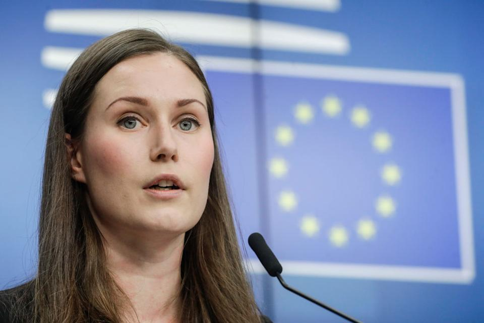 Pictured: Finland Prime Minister Sanna Marin, she has called for a four-day working week. Image: Getty