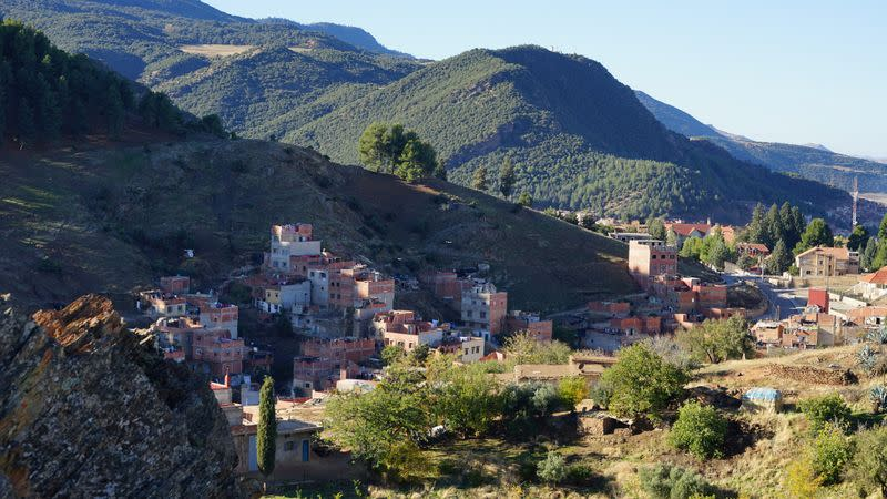 A general view of Imshermo on the edge of Azrou in Morocco