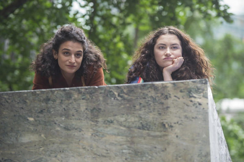 """This image released by the Sundance Institute shows Jenny Slate, left, and Abby Quinn in a scene from, """"Landline"""" by Gillian Robespierre. The film is an official selection of the U.S. Dramatic Competition at the 2017 Sundance Film Festival, running from Jan. 19 through Jan. 29. (Jojo Whilden/Sundance Institute via AP)"""