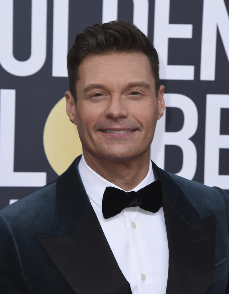 Ryan Seacrest arrives at the 77th annual Golden Globe Awards at the Beverly Hilton Hotel on Sunday, Jan. 5, 2020, in Beverly Hills, Calif. (Photo by Jordan Strauss/Invision/AP)