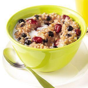 "<p>Set it and forget it: When you just can't deal with prepping breakfast, this slow-cooker recipe is your easy way out.</p><p>Get the recipe from <a href=""/cooking/recipe-ideas/recipes/a18344/slow-cooker-maple-berry-oatmeal-recipe-122583/"" data-ylk=""slk:Delish"" class=""link rapid-noclick-resp"">Delish</a>. </p>"