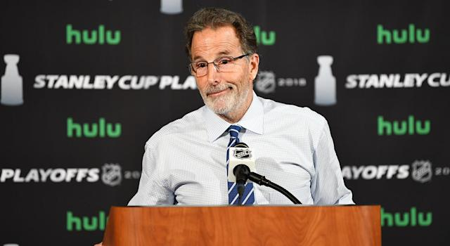 John Totorella is running his mouth once again. (Jamie Sabau/NHLI via Getty Images)