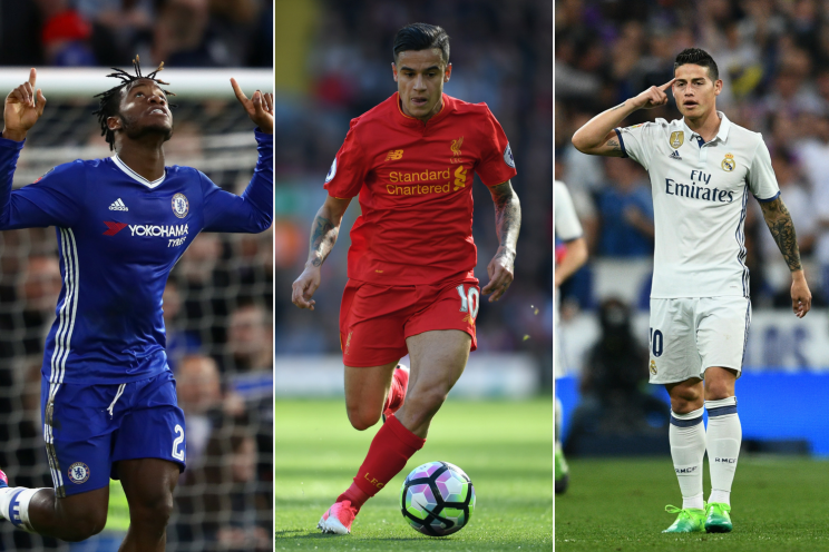 Transfer trio Coutinho Batshuayi James