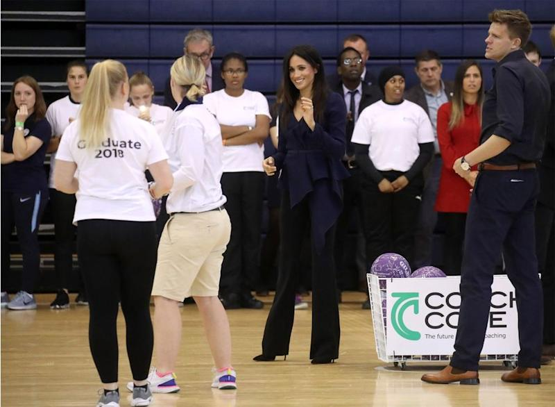 Prince Harry trumps Duchess Meghan in charity netball game
