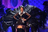 US rapper Cardi B -- seen here performing at the Grammys in 2019 -- will be back on stage, even though she did not submit any work for awards consideration