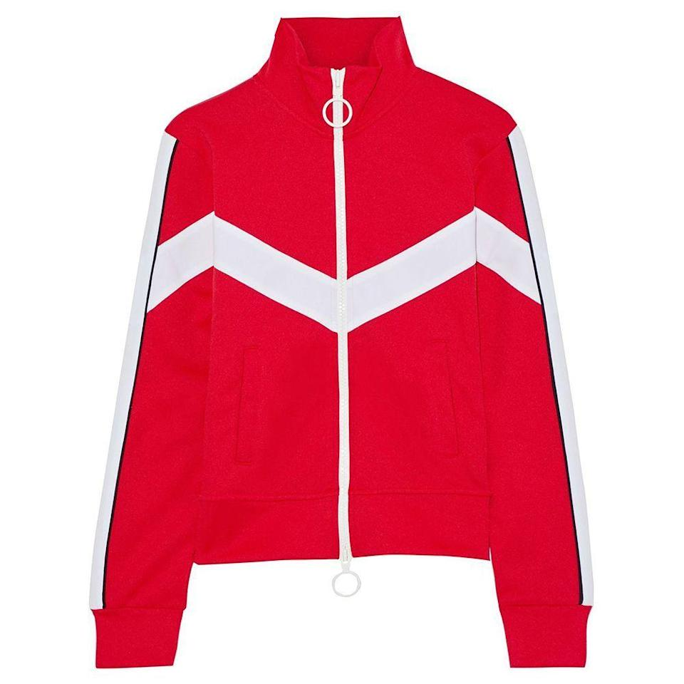"""<p><strong>OFF-WHITE</strong></p><p>theoutnet.com</p><p><a href=""""https://go.redirectingat.com?id=74968X1596630&url=https%3A%2F%2Fwww.theoutnet.com%2Fen-us%2Fshop%2Fproduct%2Fjackets%2Fcasual-jackets%2Fembroidered-striped-jersey-track-jacket%2F14097096495738993&sref=https%3A%2F%2Fwww.harpersbazaar.com%2Ffashion%2Ftrends%2Fg34499715%2Foutnet-fall-sale%2F"""" rel=""""nofollow noopener"""" target=""""_blank"""" data-ylk=""""slk:Shop Now"""" class=""""link rapid-noclick-resp"""">Shop Now</a></p><p><strong><del>$1,100</del> $254 (77% off)</strong></p>"""