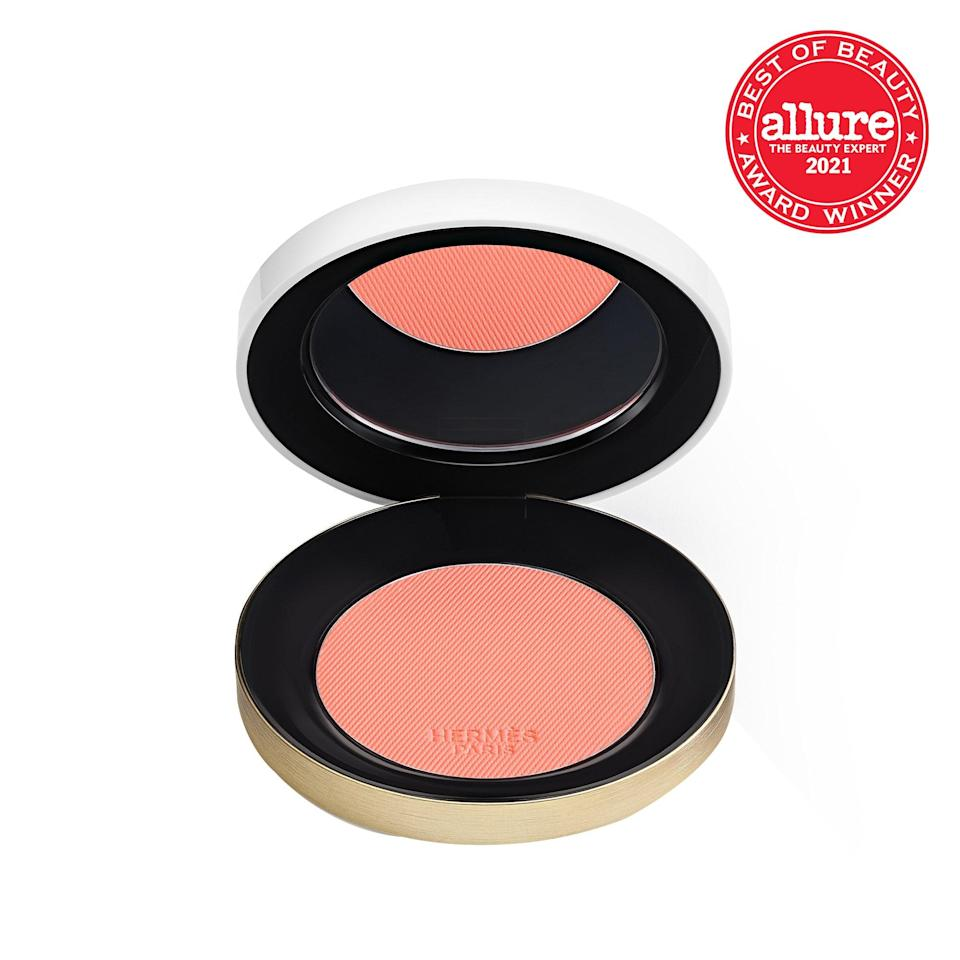 """Available in a bouquet of rose hues ranging from the palest pink to the deepest damask, these exquisitely silky <strong>Hermès Rose Hermès Silky Blush Powders</strong> allow you to <a href=""""https://www.allure.com/story/hermes-rose-silky-blush-powder-review-photos?mbid=synd_yahoo_rss"""" rel=""""nofollow noopener"""" target=""""_blank"""" data-ylk=""""slk:build your ideal blush"""" class=""""link rapid-noclick-resp"""">build your ideal blush</a>: sheer and fragile or bold and vibrant."""
