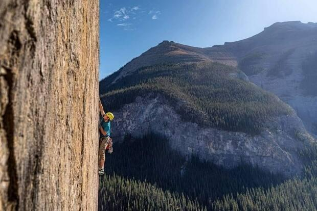 Andrew Abel, shown here, and Nathaniel Johnson frequently climbed together. This photo was taken by Johnson during one of their adventures.
