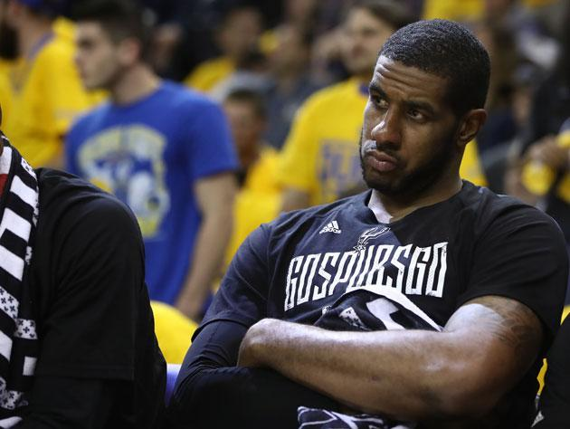 "<a class=""link rapid-noclick-resp"" href=""/nba/players/4130/"" data-ylk=""slk:LaMarcus Aldridge"">LaMarcus Aldridge</a> sure had an up and down season. (Getty Images)"