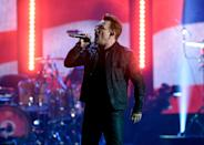 <p>It was revealed this week (26.02.17) that Bono and U2 have been accused of ripping off elements of Paul Rose's song 'Nae Slappin' in 1989, for 'The Fly', which featured on their album Achtung Baby. Ironically, lyrics in the song explore the idea that poets are thiefs. Coincidence or conscience? (Kevin Winter/Getty Images/AFP) </p>