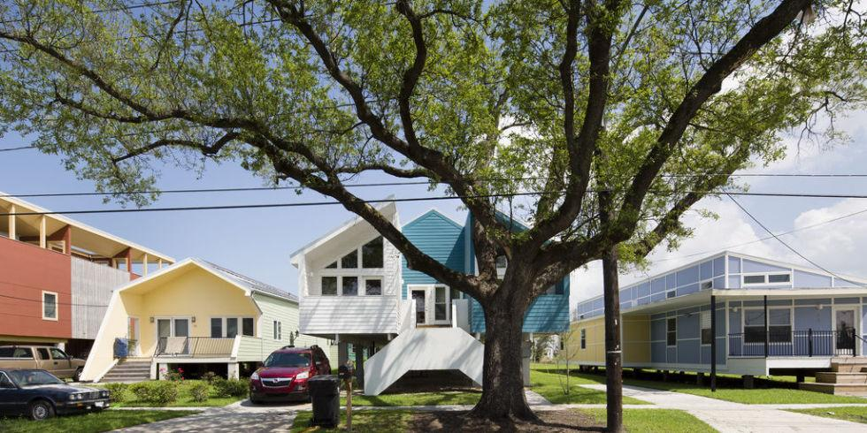 <p>The non-profit provides homes for families that suffered at the hands of Hurricane Katrina. Homes are built to be both safe and eco-friendly. (Photo: Make it Right)</p>