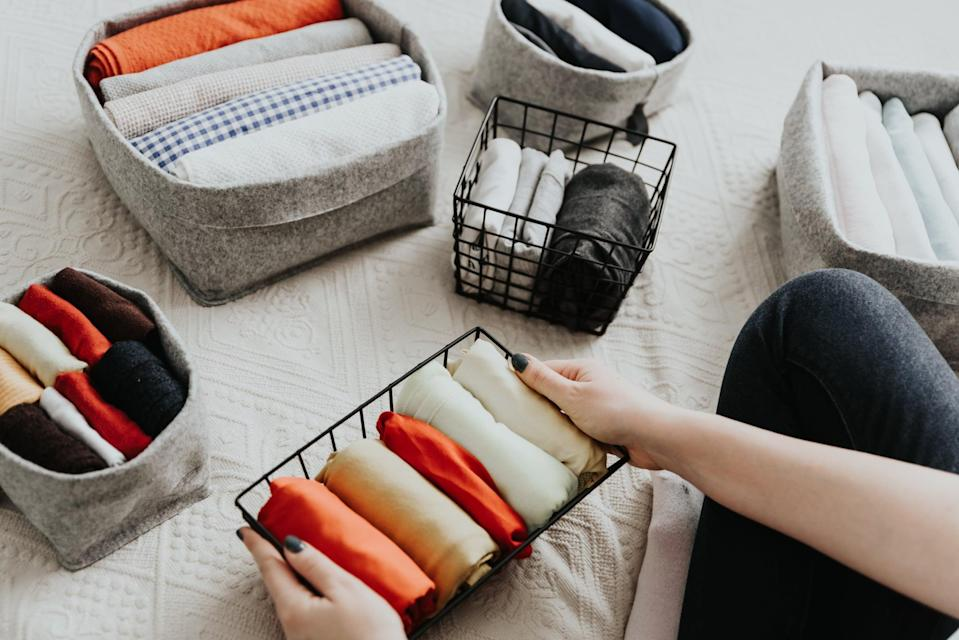"""<p>Cleaning your home may not sound like an exercise in mindfulness, but """"it forces you to be present in selecting what's important to you,"""" Dr. Dow told POPSUGAR. You might start by selecting just one space in your home that tends to get messy (like your closet, entryway, or vanity), then focus on donating or tossing anything you don't need and designating a place for the essentials. This helps prevent clutter, and """"naturally helps you to slow down and place things deliberately in a way that can help you feel relaxed and centered,"""" he said.</p>"""