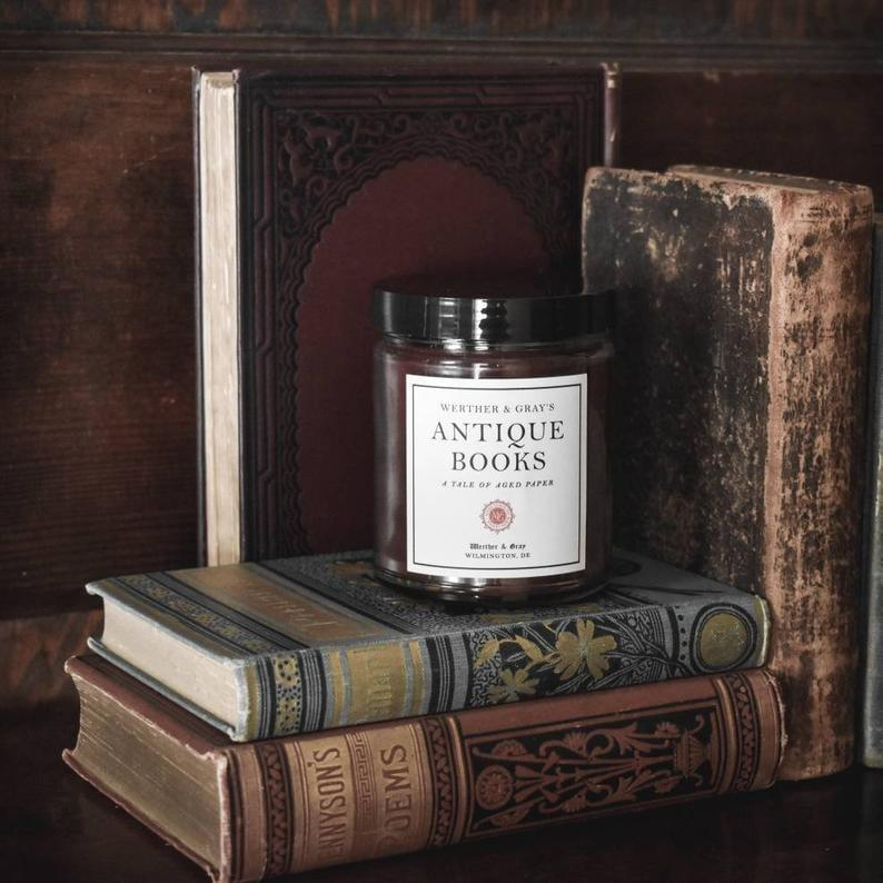 <p>Grab your favorite book and burn this<span>Antique Books Literary Candle Book Scented Candle</span> ($20).</p>