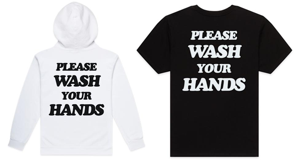 'Please wash your hands' tee and hoodie by Talentless