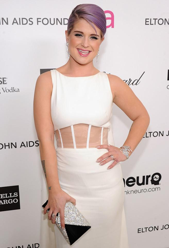 WEST HOLLYWOOD, CA - FEBRUARY 24:  Kelly Osbourne attends the 21st Annual Elton John AIDS Foundation Academy Awards Viewing Party at West Hollywood Park on February 24, 2013 in West Hollywood, California.  (Photo by Jamie McCarthy/Getty Images for EJAF)