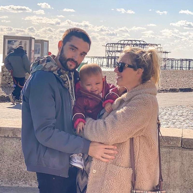 Tom Parker shared a photo of his pregnant wife Kelsey and their daughter Aurelia Rose, one, to break the heartbreaking news. Photo: Instagram/TomParkerOfficial