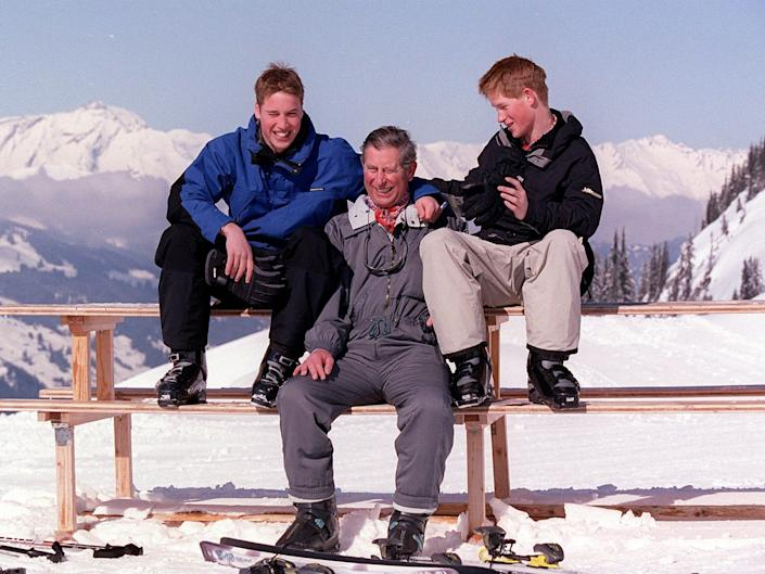 Prince Charles Prince William Prince Harry - Klosters, Switzerland