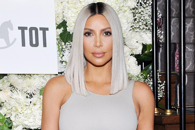 How to Achieve Kim Kardashian's Platinum Gray Hair Color
