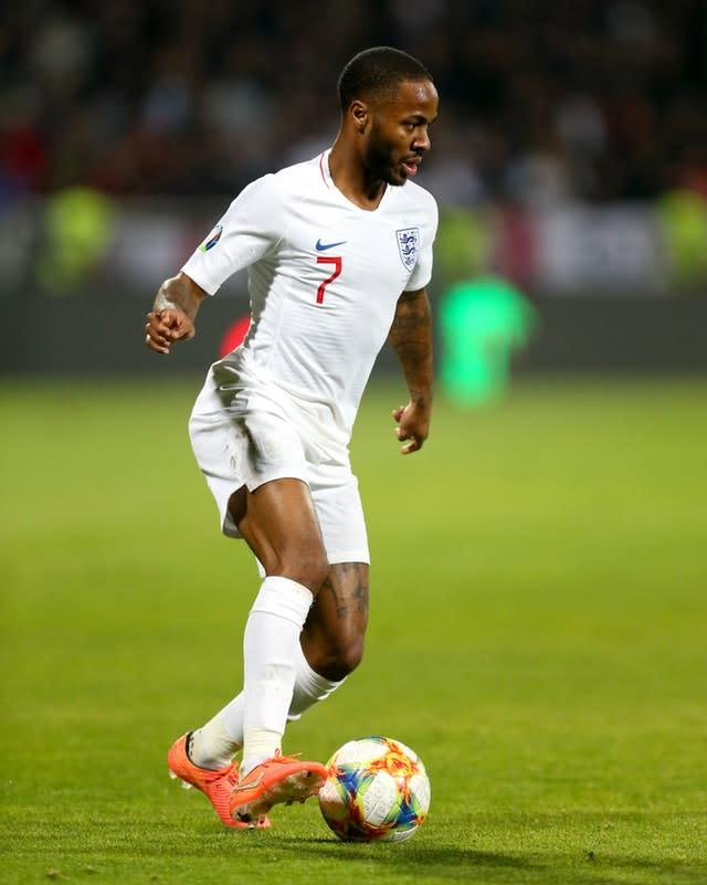 Sterling returned to the England starting line-up after being dropped for one match (Steven Paston/PA)