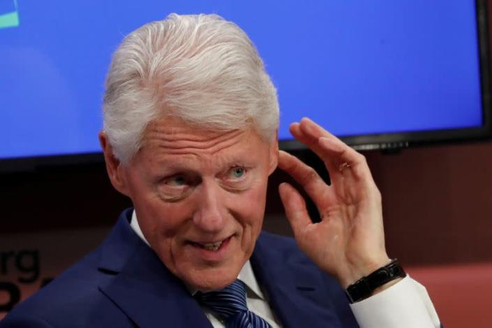 FILE PHOTO: Former U.S. President Bill Clinton attends the Bloomberg Global Business Forum in New York City