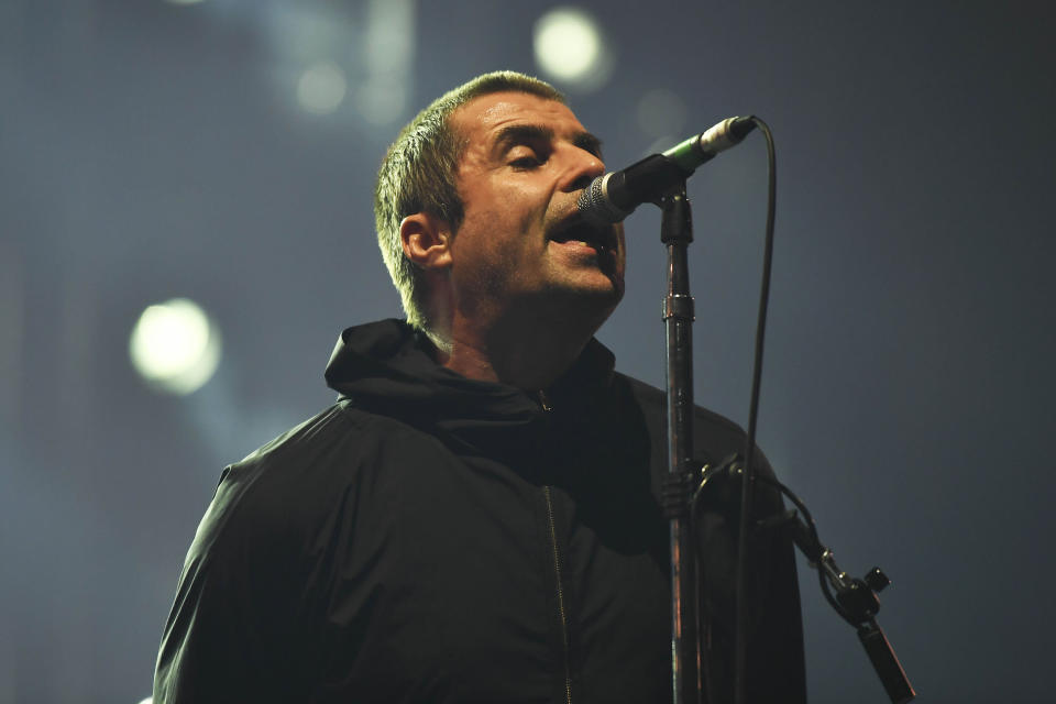 Liam Gallagher performs at O2 Arena in London. (KGC-138/STAR MAX/IPx)