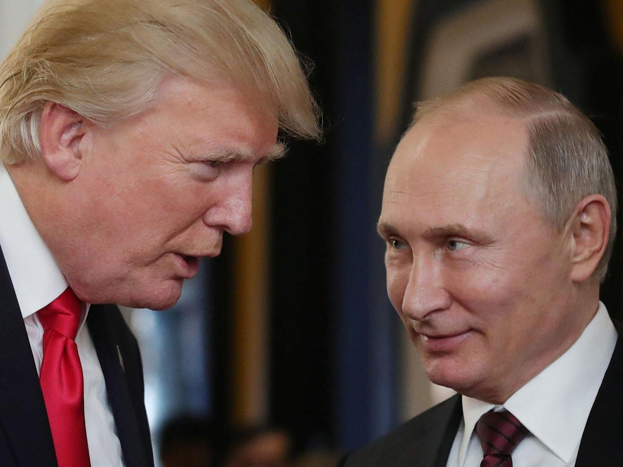Donald Trump and Vladimir Putin last met on the sidelines of an Asia-Pacific summit in Vietnam in November: MIKHAIL KLIMENTYEV/AFP/Getty Images