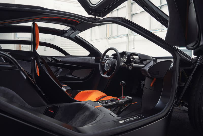 An undated handout photo of the Gordon Murray Group's T50 supercar