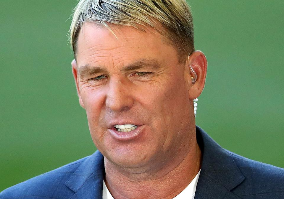 Shane Warne, pictured here in commentary during the BBL for Fox Sports.