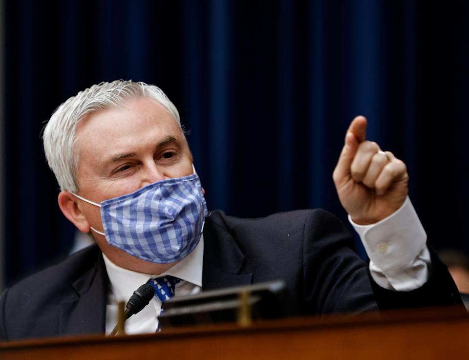 Ranking Member Rep. James Comer (R-KY) speaks during a House Oversight and Reform Committee hearing on the District of Columbia statehood bill on Capitol Hill in Washington, DC, March 22, 2021. (Carlos Barria/AFP via Getty Images)