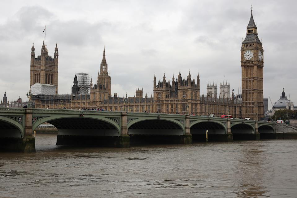 "LONDON, ENGLAND - OCTOBER 19:  A general view of The Houses of Parliament and Elizabeth Tower on October 19, 2015 in London, England. A Report for the Commons Finance Committee has recommended a £29.2M GBP package to refurbish Big Ben's clock, stating that the cost could rise to £40M GBP. The bill which would have to be paid by the taxpayer, would include work on ""severe metal erosion, cracks in the roof and other structural defects"" in the Elizabeth Tower.  (Photo by Dan Kitwood/Getty Images)"