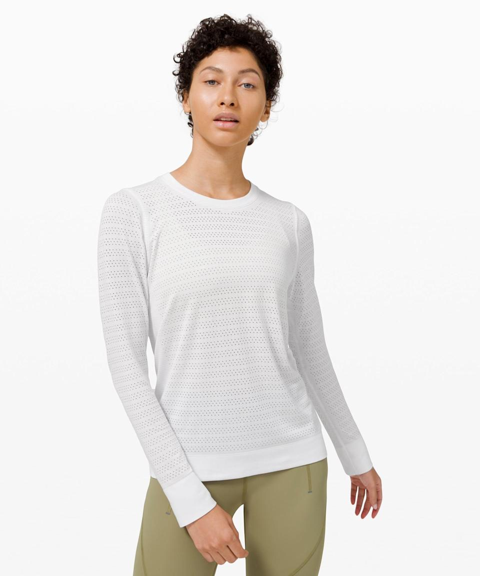 <p>This <span>Lululemon Swiftly Breathe Long Sleeve</span> ($54, originally $78) is good for all seasons.</p>