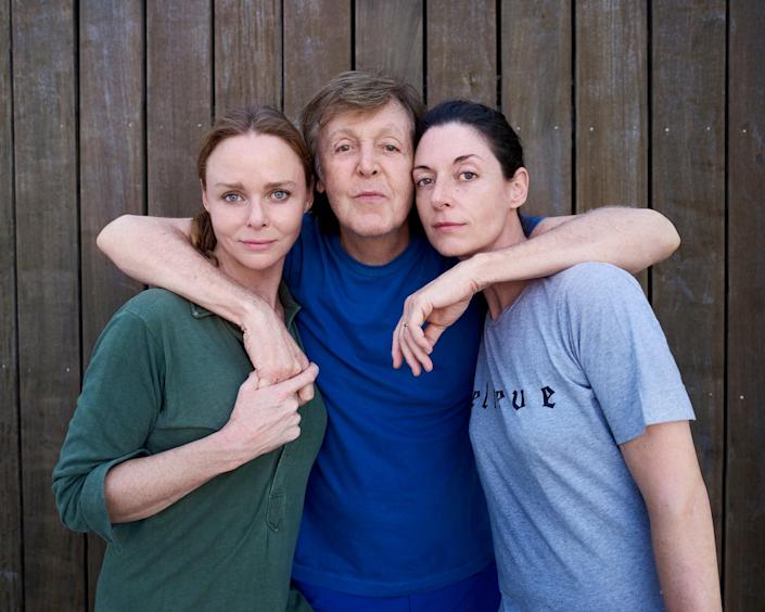 Linda's family use the book to share their memories of her cooking and approach to feeding people (Stella, Paul and Mary McCartney © Mary McCartney/Seven Dials/PA)