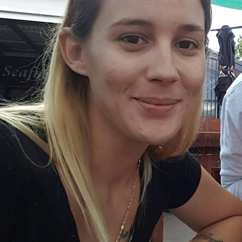 Pictured is Danielle Easy, whose body was found in plastic in a creek near Newcastle.