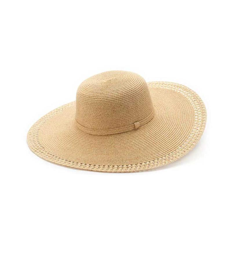 Brown oversized eyelet floppy hat. (Photo: Sonoma Goods/Kohl's)