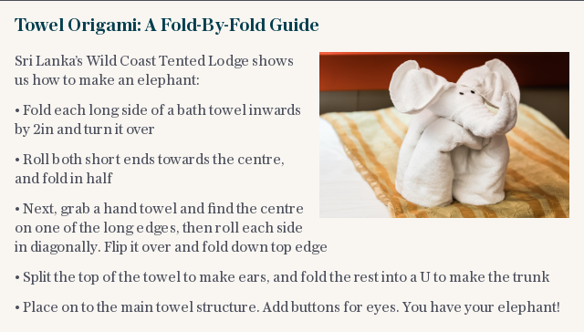 Towel Origami: A Fold-By-Fold Guide