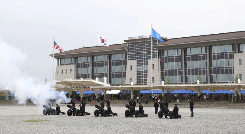 US opens new military HQ in South Korea