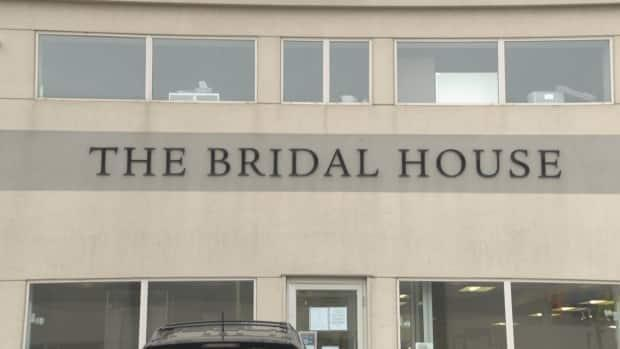 The exterior of the Bridal House in northwest Edmonton. (David Bajer/CBC - image credit)
