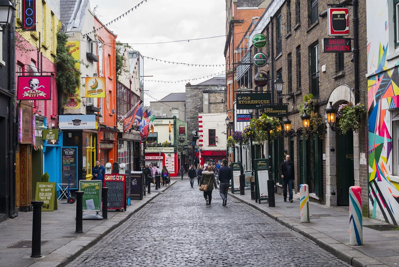 """<p>If you do spend time in Dublin, in addition to the Guinness Storehouse, there's also the <a href=""""https://www.jamesonwhiskey.com/en-IE/visit-us/jameson-distillery-bow-st"""" target=""""_blank"""" class=""""ga-track"""" data-ga-category=""""Related"""" data-ga-label=""""https://www.jamesonwhiskey.com/en-IE/visit-us/jameson-distillery-bow-st"""" data-ga-action=""""In-Line Links"""">Jameson distillery</a> to tour if that's more your style. If you're a history buff and into true crime, definitely take a tour of <a href=""""http://kilmainhamgaolmuseum.ie/"""" target=""""_blank"""" class=""""ga-track"""" data-ga-category=""""Related"""" data-ga-label=""""http://kilmainhamgaolmuseum.ie/"""" data-ga-action=""""In-Line Links"""">Kilmainham Gaol</a>, a former prison that's now a museum. And make sure to take a walk through Trinity College, which houses the <a href=""""https://www.tcd.ie/visitors/book-of-kells/"""" target=""""_blank"""" class=""""ga-track"""" data-ga-category=""""Related"""" data-ga-label=""""https://www.tcd.ie/visitors/book-of-kells/"""" data-ga-action=""""In-Line Links"""">Book of Kells</a>. Oh, and for traditional Irish music and delicious pints, head to <a href=""""http://www.brazenhead.com/"""" target=""""_blank"""" class=""""ga-track"""" data-ga-category=""""Related"""" data-ga-label=""""http://www.brazenhead.com/"""" data-ga-action=""""In-Line Links"""">The Brazen Head</a>, Ireland's oldest pub. For grub, head to <a href=""""https://www.johnniefoxs.com/"""" target=""""_blank"""" class=""""ga-track"""" data-ga-category=""""Related"""" data-ga-label=""""https://www.johnniefoxs.com/"""" data-ga-action=""""In-Line Links"""">Johnnie Fox's</a>, Ireland highest pub! While all of this might sound like a lot, you can easily do most of it in a day.</p>"""