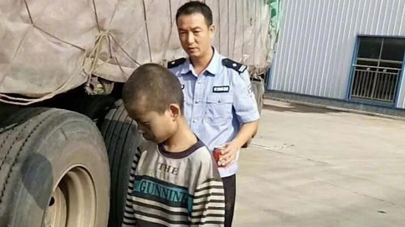 Nine-year-old stowaway travels 1,000km underneath a truck to escape from home