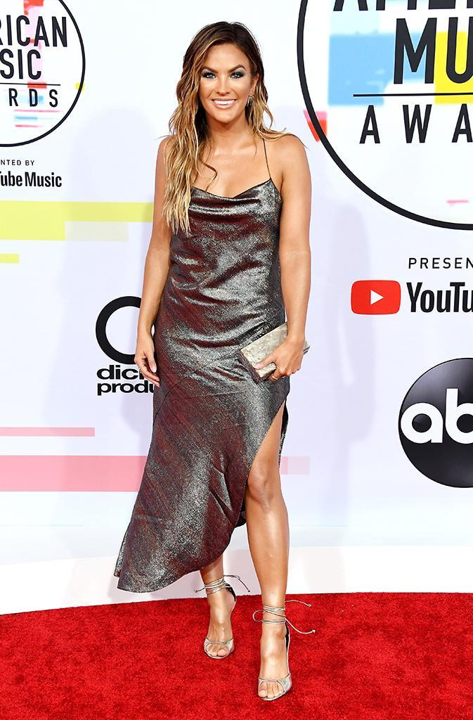 <p>Becca Tilley attends the 2018 American Music Awards at Microsoft Theater on Oct. 9, 2018, in Los Angeles. (Photo: Steve Granitz/WireImage) </p>