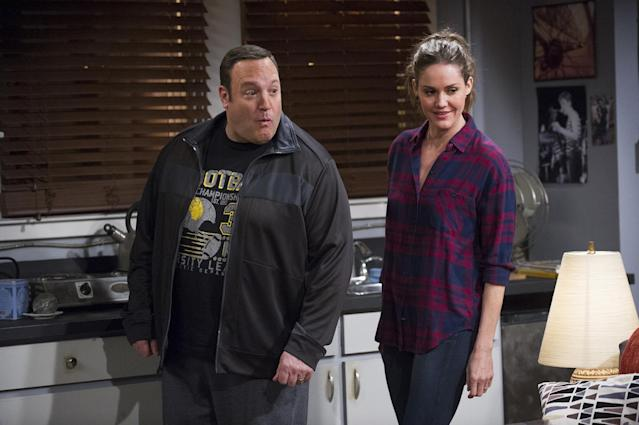 Kevin James and Erinn Hayes (Photo by Jeffrey Neira/CBS via Getty Images)