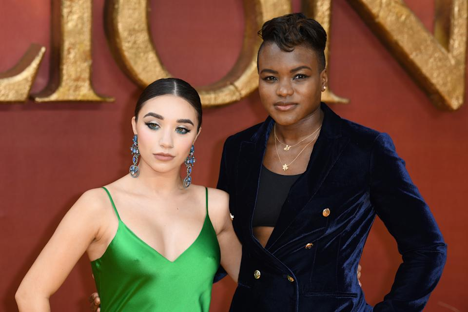 Nicola Adams and Ella Baig at the European Premiere of The Lion King, Odeon Cinema, Leicester Square, London. Photo credit should read: Doug Peters/EMPICS
