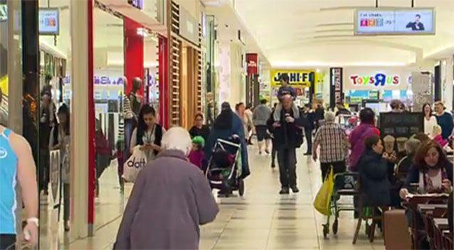 Shoppers inside the Northland Shopping Cantre. Source: 7News
