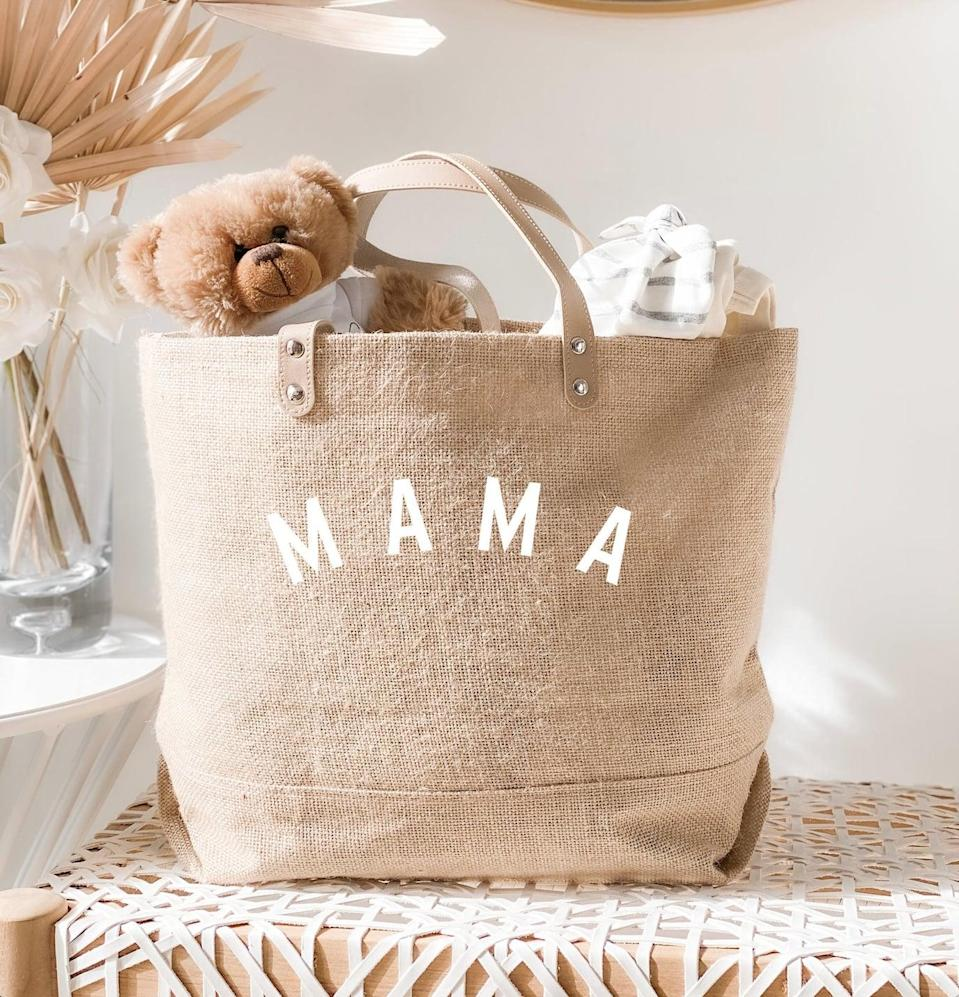 <p>This <span>Mama Tote Bag</span> ($23 and up) is simple yet so thoughtful.</p>