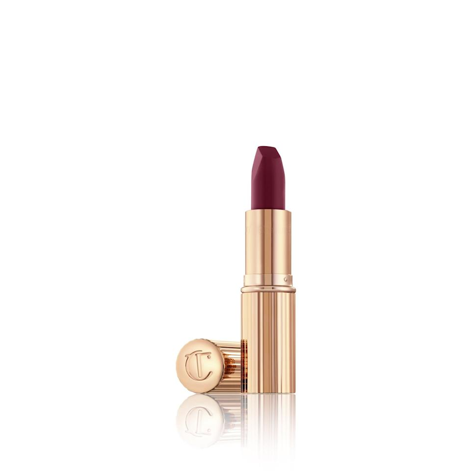 "<p>""<span>Charlotte Tilbury Matte Revolution Lipstick in Love Liberty</span> ($34) is a stunning raspberry red that adds a touch of femininity to your lips,"" said Barnes. ""It's also so pretty worn blotted down as a stain.""</p>"