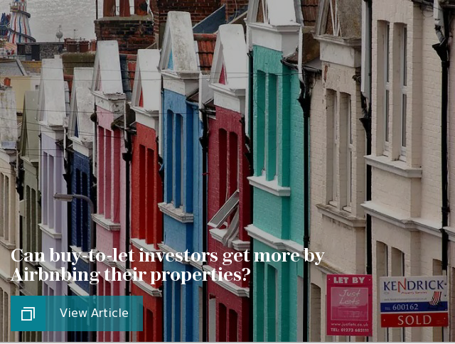 Can buy-to-let investors get more by Airbnbing their properties?
