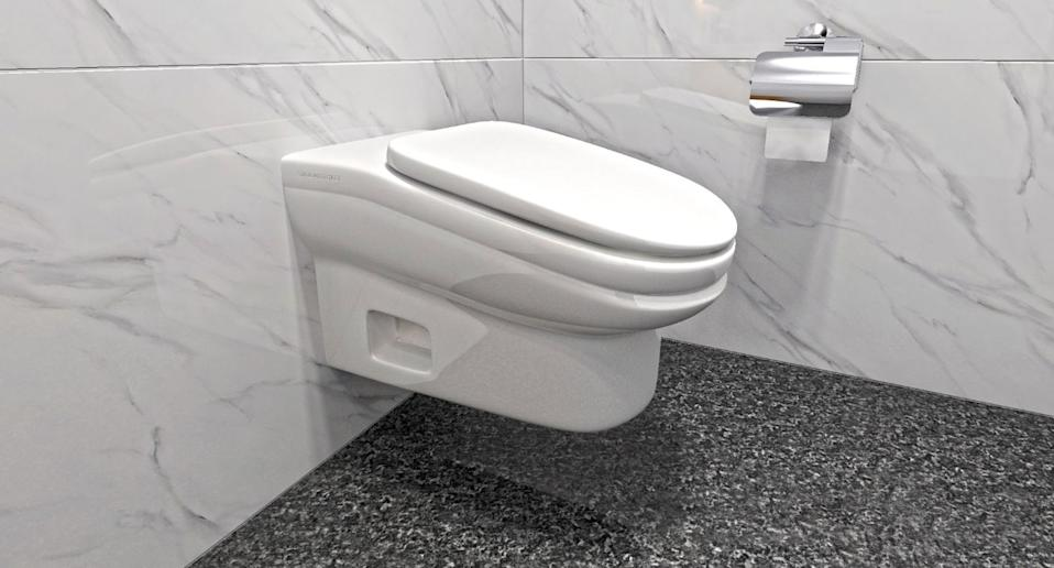 A StandardToilet wall-mounted slanted toilet is pictured.