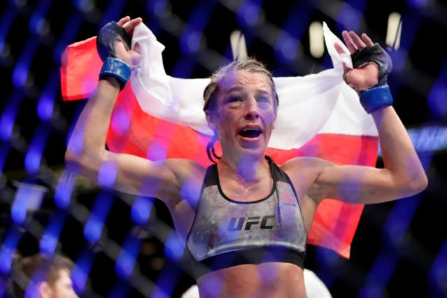 The best women's fight in July is the strawweight matchup between former champion Joanna Jedrzejczyk and rising star Tecia Torres. (AP)